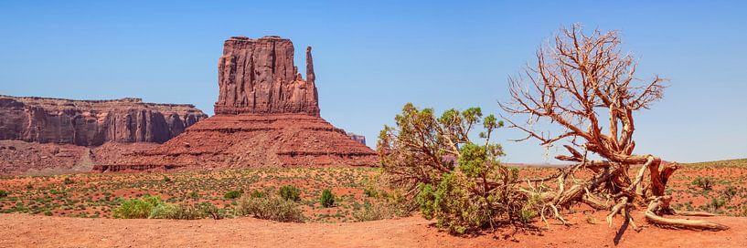 MONUMENT VALLEY Sentinel Mesa & West Mitten Butte van Melanie Viola