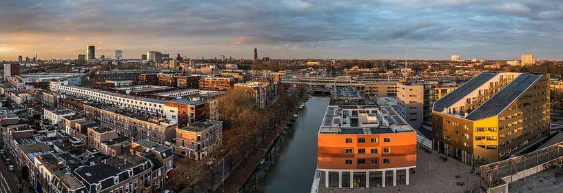 Uitzicht vanaf de watertoren op Rotsoord van De Utrechtse Internet Courant (DUIC)