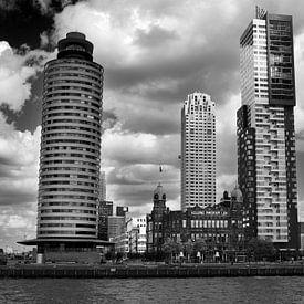 Rotterdam vanaf het water (Kop van Zuid) van Thomas van der Willik