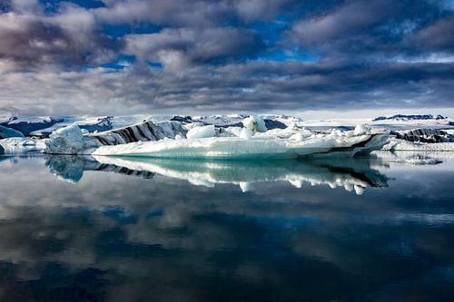eau et glace sur