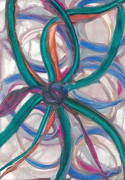 Bloem in een bloem van Bethina de Reus