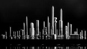 skyline black and white