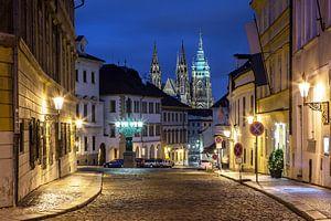 In de straten van Praag