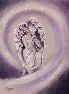 Guardian Angel - handgeschilderde engel kunst