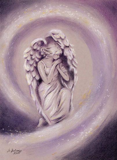 Guardian Angel - Handgeschilderde engel kunst van Marita Zacharias
