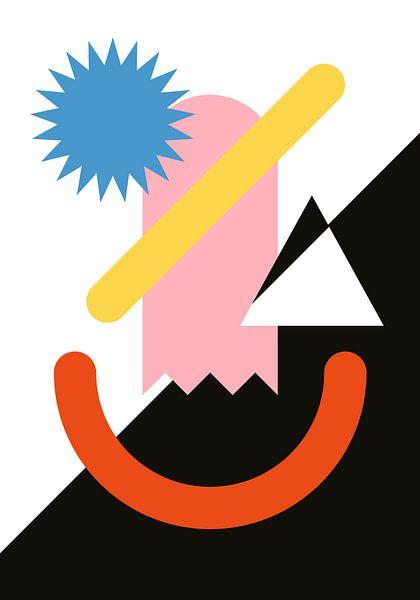 Abstrakte Gesichtsarbeit von Raymond Wijngaard
