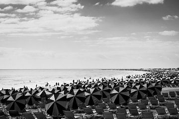 Maspalomas Costa Canaria Vintage Schwarz-Weiß von Nick van Dijk