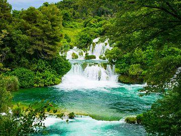 Plitvicer Seen während der Reise durch Kroatien von Déwy de Wit
