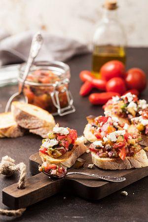 Tomatenbruschetta mit Ziegenkäse