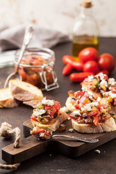 Tomaten bruschetta met geitenkaas