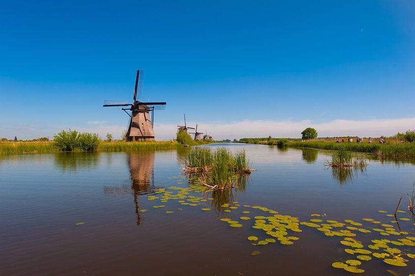 Windmills on Kinderdijk Holland van Brian Morgan