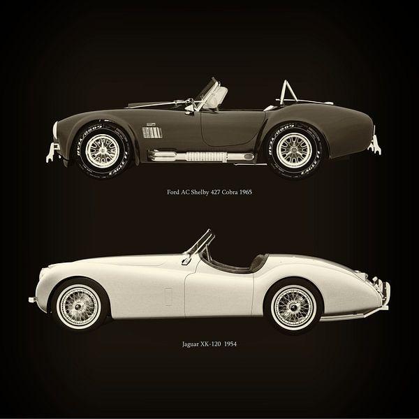 Ford AC Shelby 427 Cobra 1965 en Jaguar XK-120 1954 van Jan Keteleer