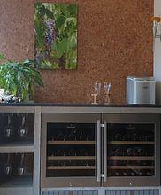 Photo de nos clients: Les raisins en Toscane pour le délicieux vin italien du Chianti sur Michel Geluk, sur aluminium