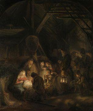 Die Anbetung der Hirten, Schüler von Rembrandt