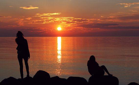Sunset Kattegat van Hielke Roelevink