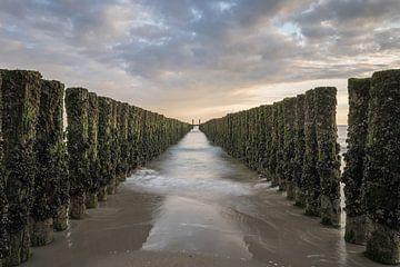 Wellenbrecher von Marian van der Kallen Fotografie