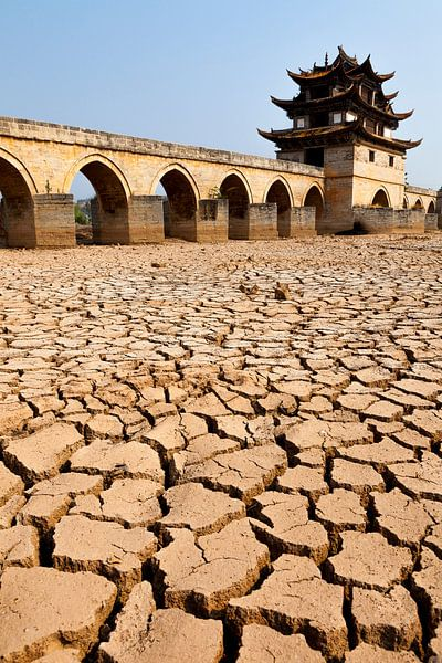 Droogte in China van Bart van Eijden