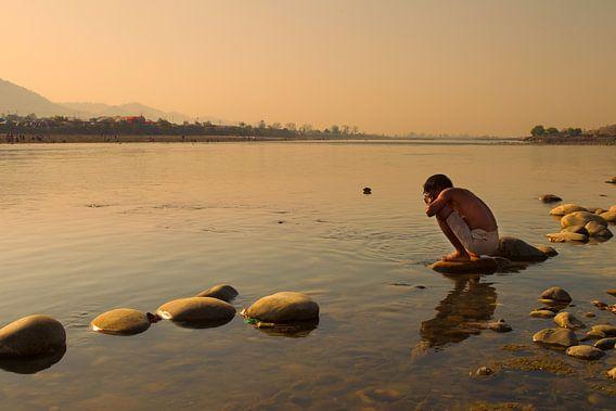 ochtend aan de rivier van Paul Piebinga