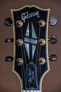 Gibson Les Paul Custom Black Beauty iconische gitaarkop van Thijs van Laarhoven
