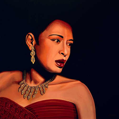 Billie Holiday schilderij