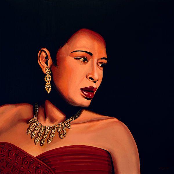Billie Holiday painting von Paul Meijering
