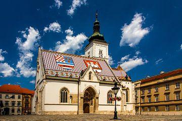 Markus-Kirche in Zagreb von Rick van Geel