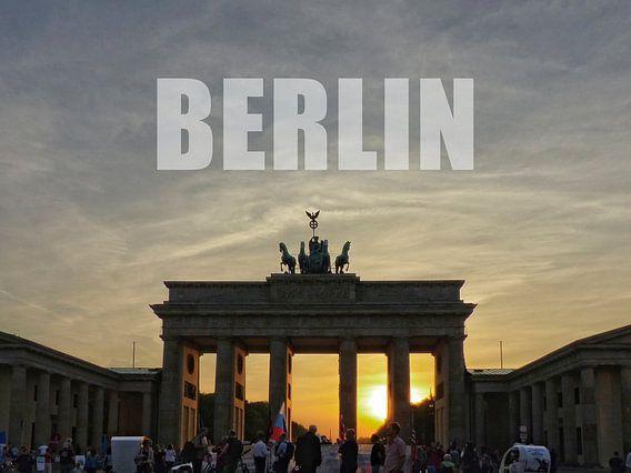 BERLIN, Sunset at the Brandenburg Gate