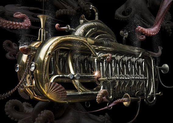Steampunk trumpet