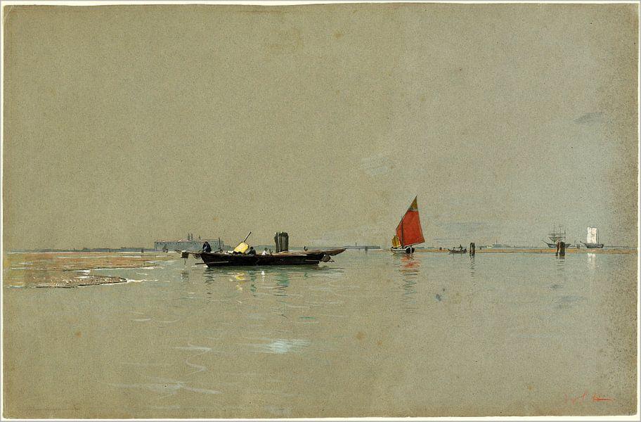 Een Venetiaanse lagune, Amerikaans, William Stanley Haseltine van Liszt Collection
