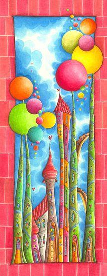 Bubblegum - Pink - Kunst voor Kinderen van Atelier BuntePunkt
