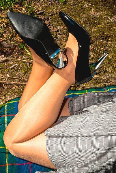 Schöne Beine in glänzenden Nylons (2) von Norbert Sülzner