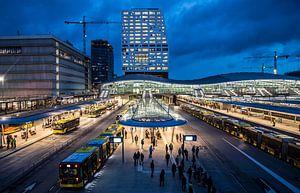 Moderne architectuur bij station Utrecht Centraal