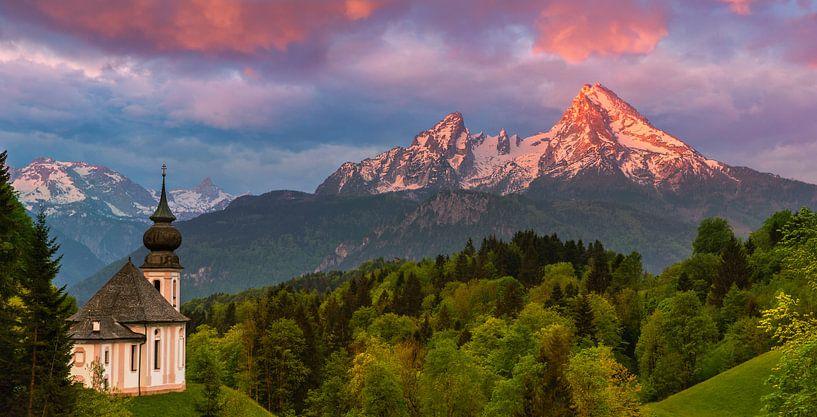 Maria Gern, Berchtesgaden, Beieren, Duitsland van Henk Meijer Photography