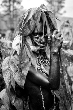 Einheimischer Stamm in Papua-Neuguinea von Milene van Arendonk