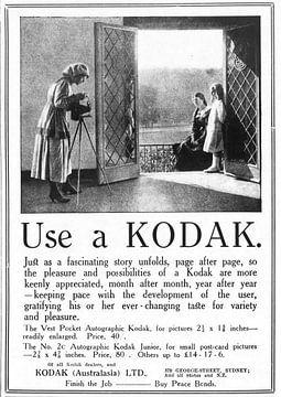 Kodak annonce 1919 sur Natasja Tollenaar