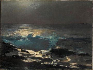 Winslow Homer-Moon Light, Wood Island Light