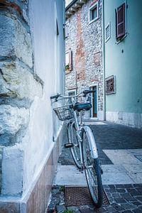Fiets in de straten van Italië