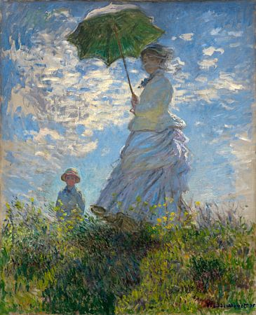 Femme avec ombrelle - Madame Monet et son fils, Claude Monet