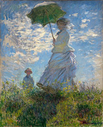 Frau mit einem Sonnenschirm - Madame Monet und ihr Sohn, Claude Monet von Liszt Collection