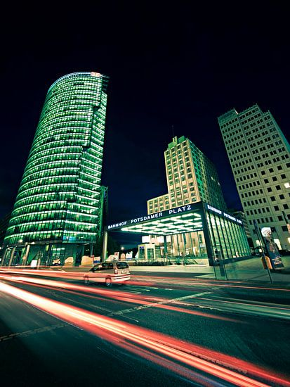 Berlin by Night: Potsdamer Platz van Alexander Voss