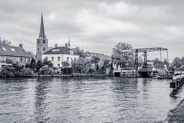 Koudekerk aan den Rijn zwart wit van Patrick Herzberg
