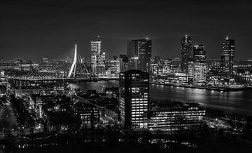 Skyline Rotterdam 2014 Schwarz-Weiß von