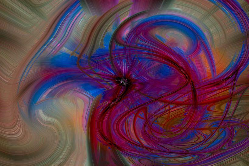Digital abstract nr 12 van Leo Luijten