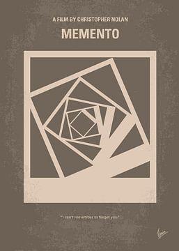 No243 My Memento minimal movie poster van Chungkong Art