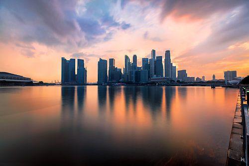 de gloed van Singapore  van