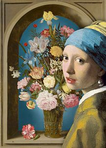 Meisje met de Parel – De Vaas met Bloemen
