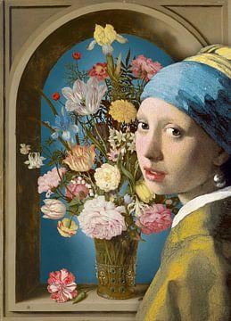 Meisje met de Parel – De Vaas met Bloemen van Marja van den Hurk