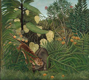 Combat entre un tigre et un buffle, Henri Rousseau