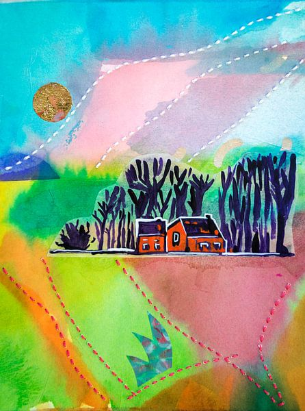 Paysage, printemps 1 sur Ariadna de Raadt-Goldberg