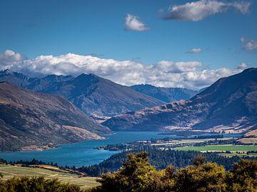 Een typisch uitzicht op het Zuidereiland van Nieuw-Zeeland van Rik Pijnenburg